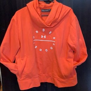 Salmon under armour hoodie
